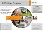 norc core principles