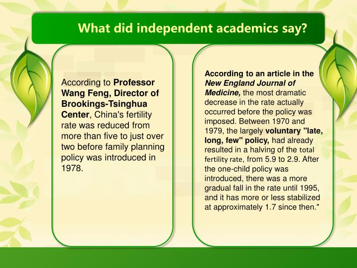 What did independent academics say?