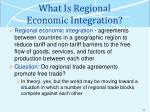 what is regional economic integration