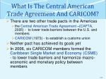 what is the central american trade agreement and caricom