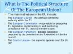 what is the political structure of the european union