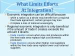 what limits efforts at integration