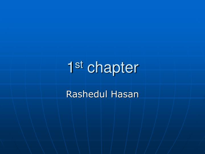 1 st chapter n.