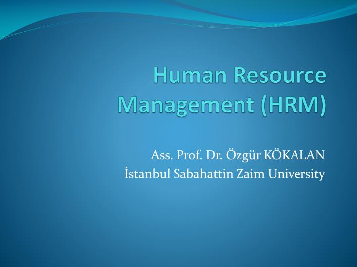 human resource management hrm n.