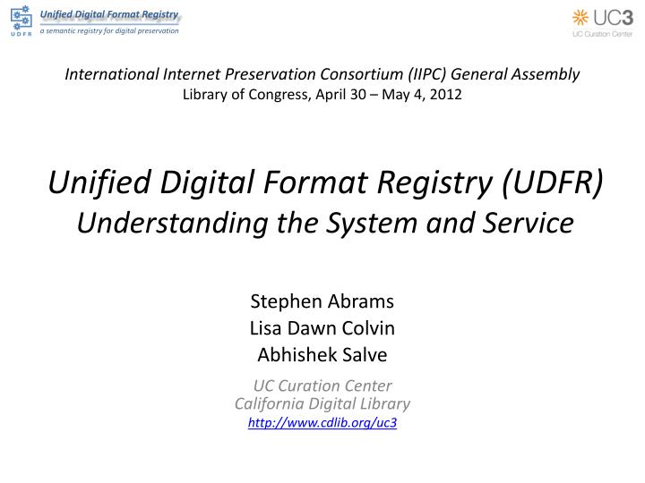 unified digital format registry udfr understanding the system and service n.