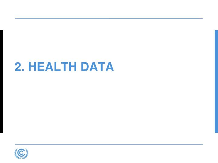 2. Health Data