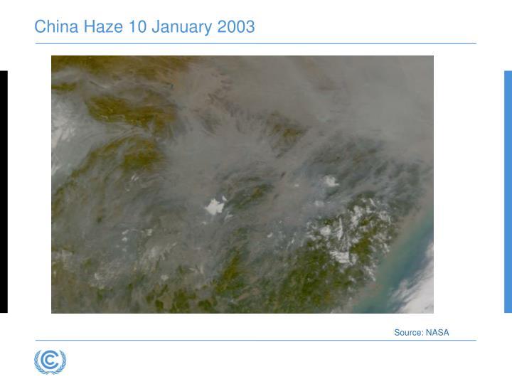 China Haze 10 January 2003