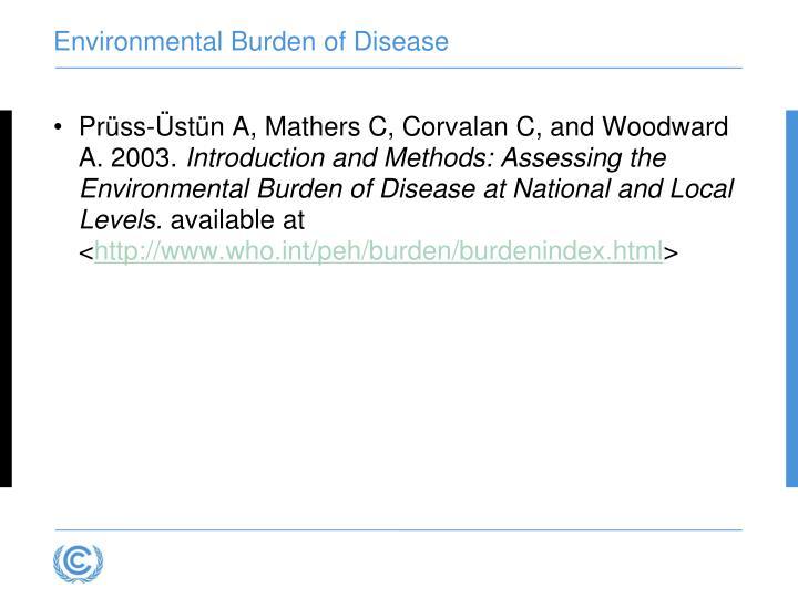 Environmental Burden of Disease