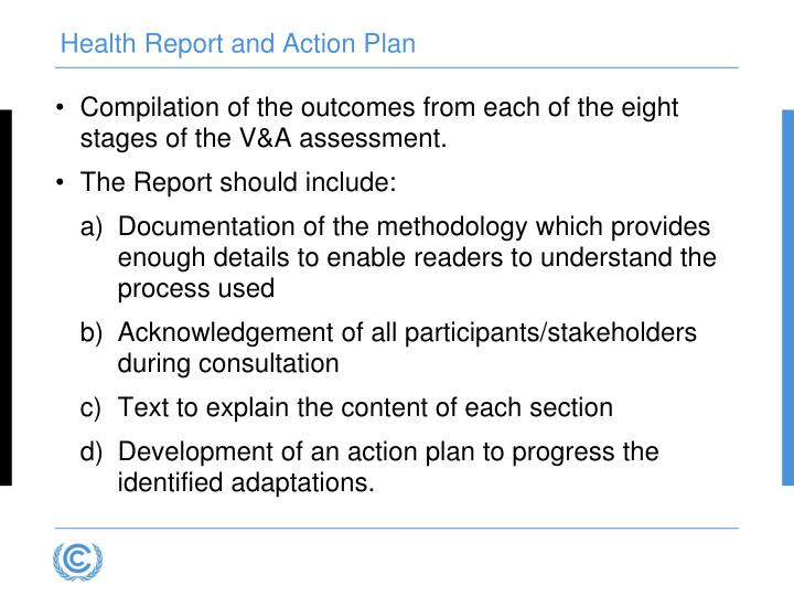 Health Report and Action Plan
