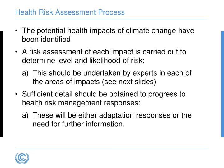 Health Risk Assessment Process