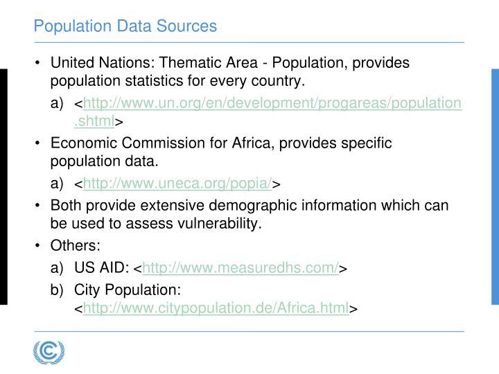 Population Data Sources