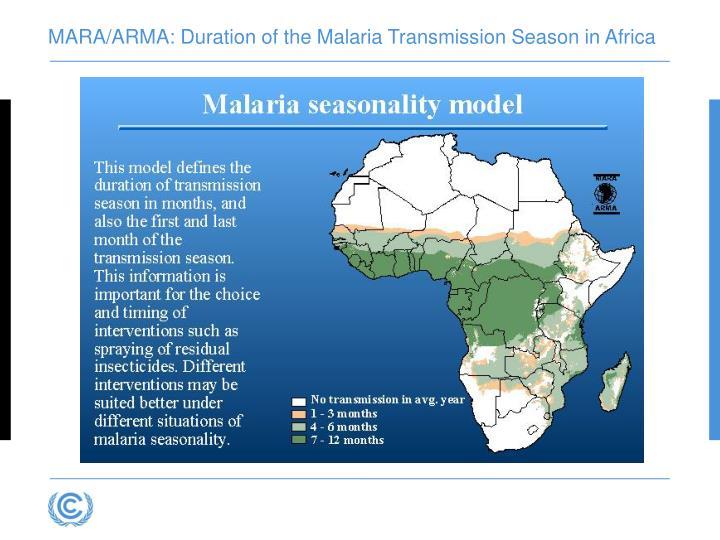 MARA/ARMA: Duration of the Malaria Transmission Season in Africa