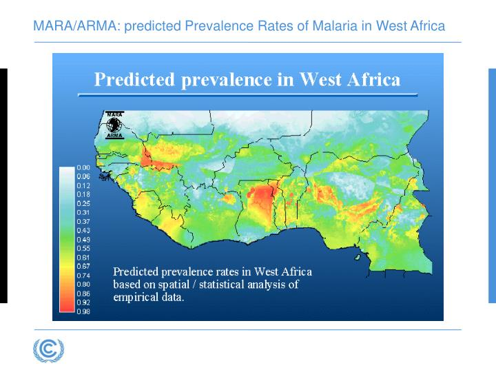 MARA/ARMA: predicted Prevalence Rates of Malaria in West Africa