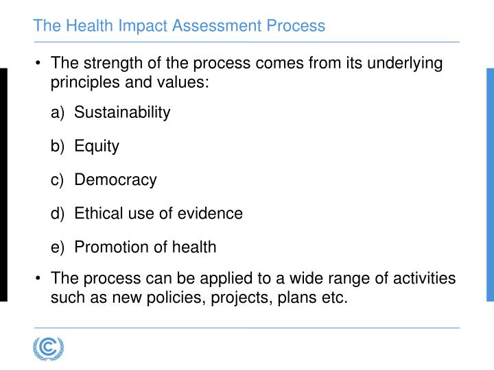 The Health Impact Assessment Process