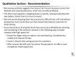 qualitative section recommendation1