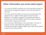 other information you must retain report