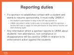 r eporting duties