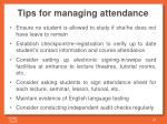 tips for managing attendance