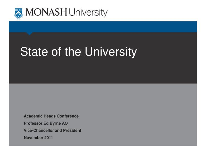 state of the university n.