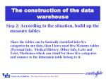 the construction of the data warehouse1