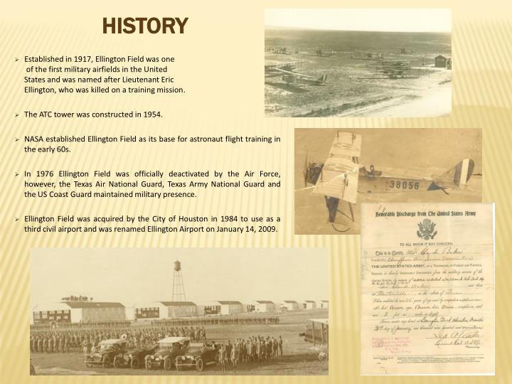 Established in 1917, Ellington Field was one