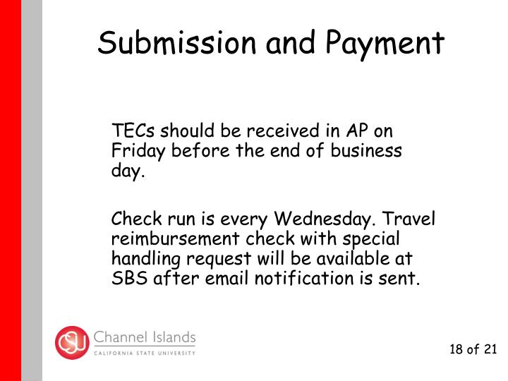 Submission and Payment