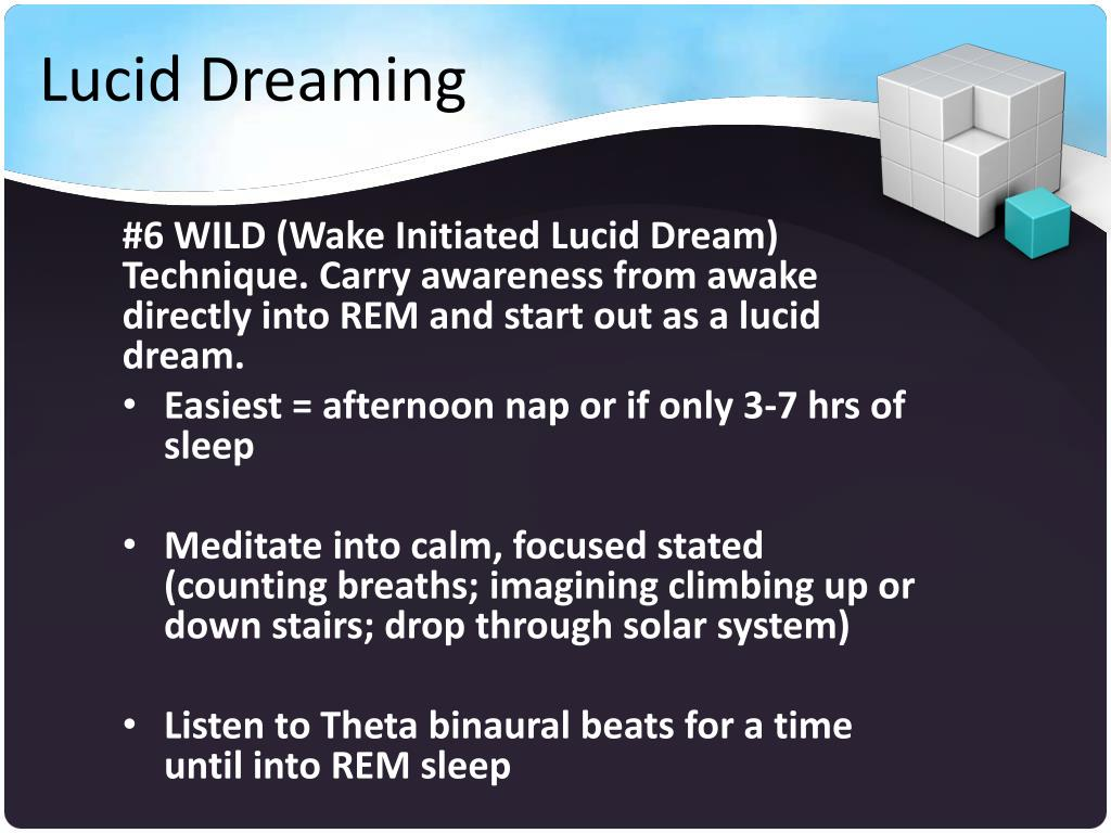Wild Lucid Dreaming