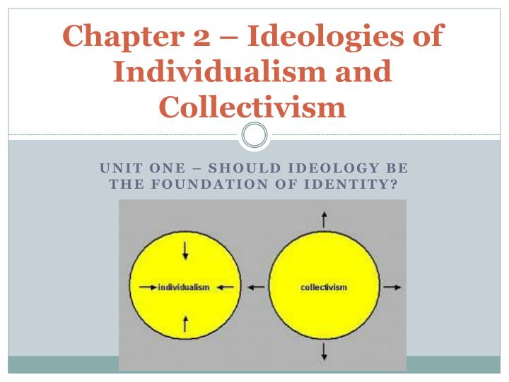 the subcategories of individualism and collectivism Editor's note: this selection is from fa hayek's individualism and economic order, now available as an ebook in the mises store in this selection, hayek contrasts two types of individualism: one that leads to freedom and spontaneous order, and the other that leads to collectivism and controlled economies.