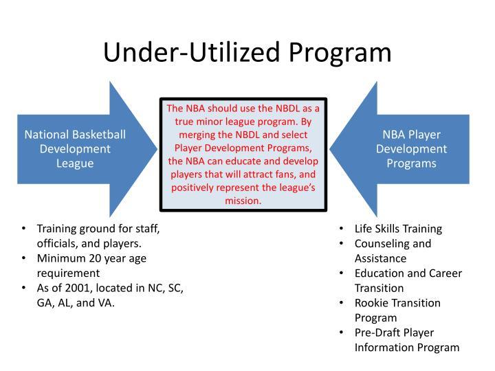 Under-Utilized Program