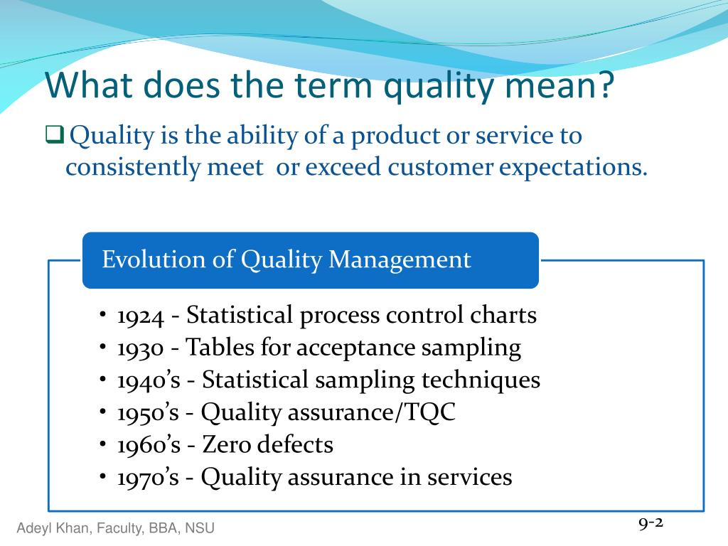 what does product quality really mean