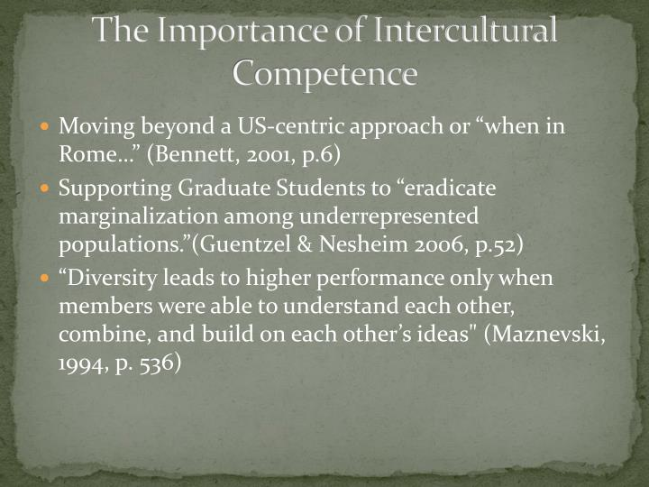 The Importance of Intercultural Competence
