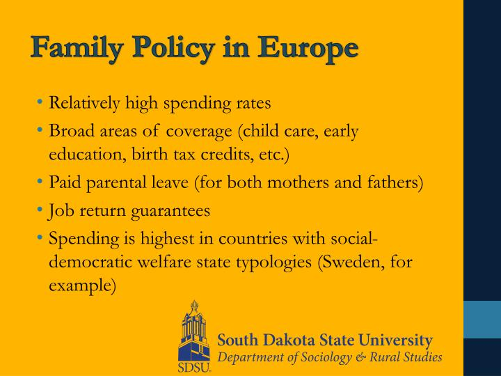 Family Policy in Europe