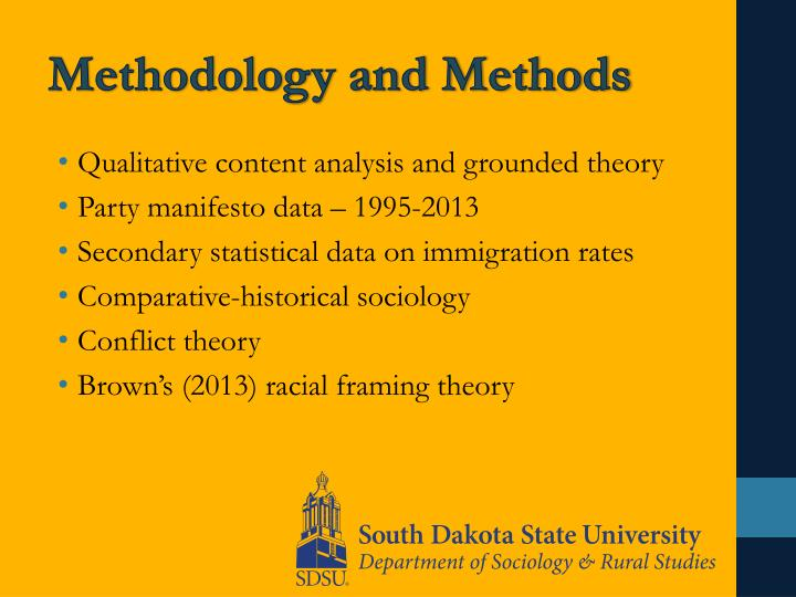Methodology and Methods
