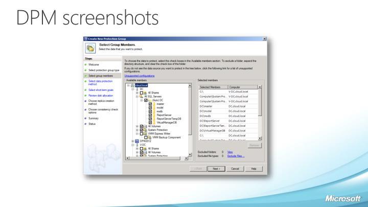 DPM screenshots