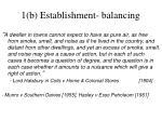1 b establishment balancing
