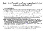 cole v south tweed heads rugby league football club limited 2004 217 clr 4692