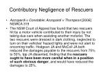 contributory negligence of rescuers