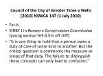 council of the city of greater taree v wells 2010 nswca 147 1 july 2010