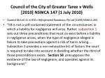 council of the city of greater taree v wells 2010 nswca 147 1 july 20101