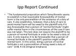 ipp report continued