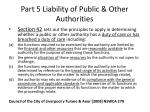 part 5 liability of public other authorities1