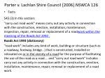 porter v lachlan shire council 2006 nswca 126