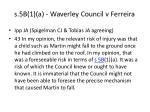s 5b 1 a waverley council v ferreira1