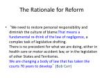 the rationale for reform1