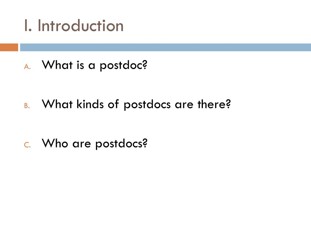 PPT - Postdocs: What are they and how do I find one