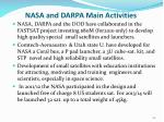 nasa and darpa main activities