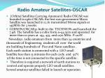 radio amateur satellites oscar