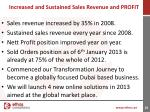 increased and sustained sales revenue and profit