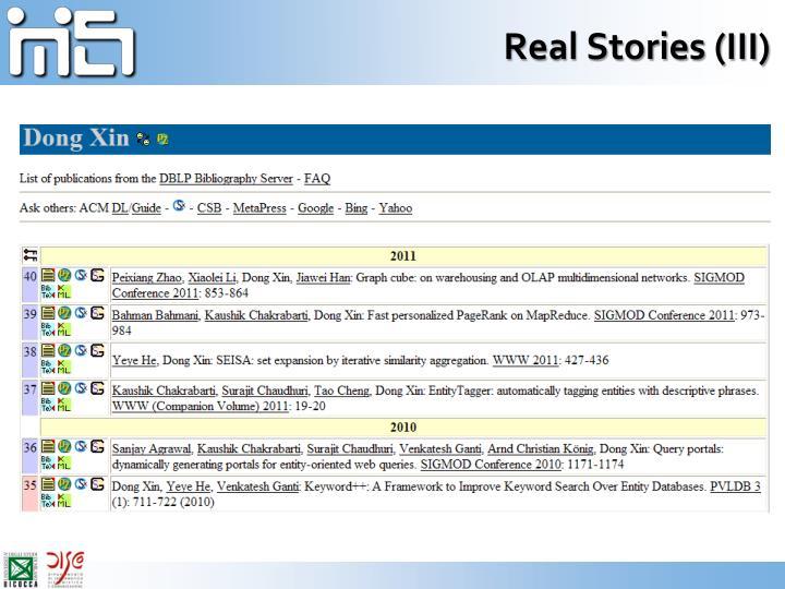 Real Stories (III)