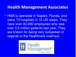 health management associates